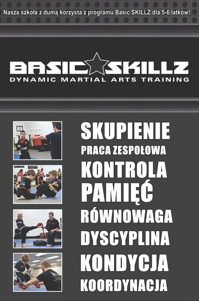 Szkoła sztuk walki dla dzieci BASIC SKILLZ 5-6 lat Warszawa