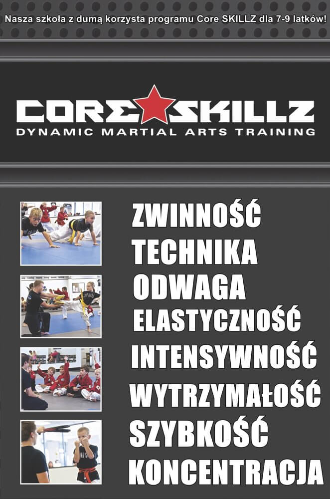 Szkoła sztuk walki dla dzieci CORE SKILLZ 7-9 lat Warszawa