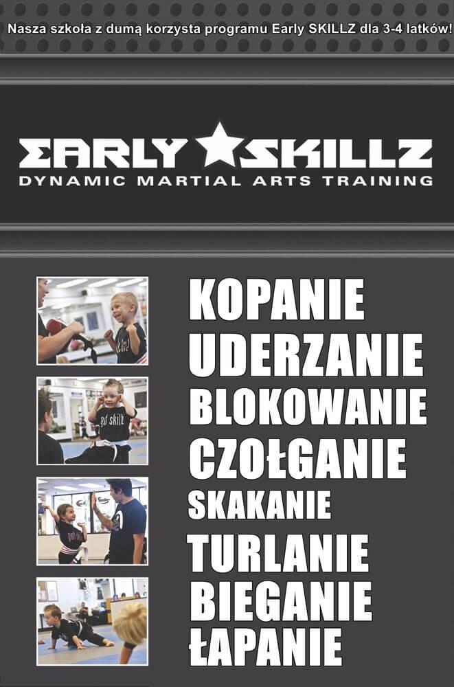 Szkoła sztuk walki dla dzieci EARLY SKILLZ 3-4 lat Warszawa