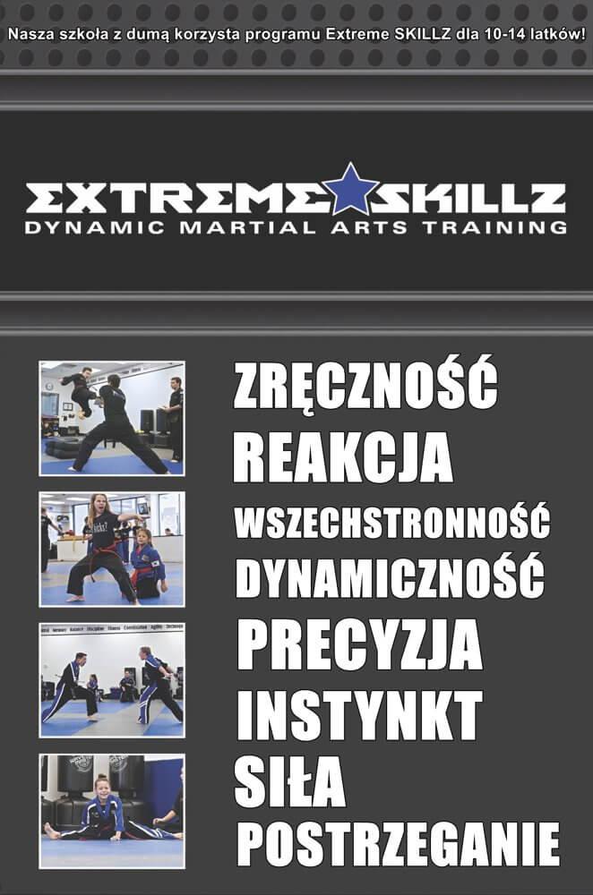 Szkoła sztuk walki dla dzieci EXTREME SKILLZ 10-14 lat Warszawa